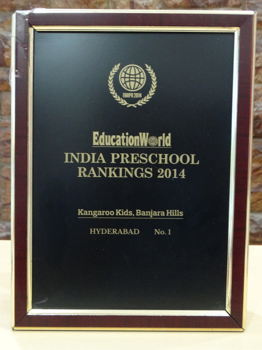 Secured the first position for Best Preschool in Hyderabad- 2014