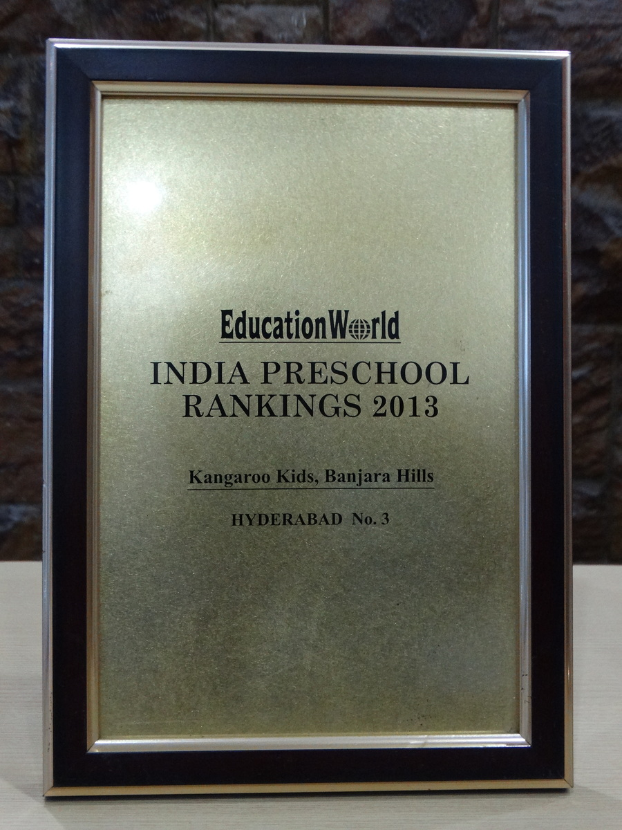 Secured the third position for Best Preschool in Hyderabad- 2013